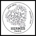 Oblitération 1er jour à Paris au Carré d'Encre le 25 et 26 janvier 2013.'