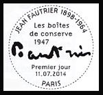 Oblitération 1er jour à Paris au Carré d'Encre le 11 et 12 juillet 2014