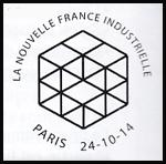 Oblitération 1er jour à Paris au Carré d'Encre le 24 et 25 octobre 2014