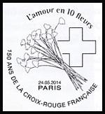 Oblitération 1er jour à Paris au Carré d'Encre le samedi 24 mai 2014