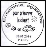 Oblitération 1er jour à Paris au Carré d'Encre le jeudi 3 avril 2014
