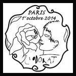 Oblitération 1er jour à Paris au Carré d'Encre le mercredi 1 octobre 2014
