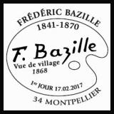 Oblitération 1er jour à Paris au Carré d'Encre et à Montpellier le17 et 18 février 2017