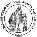 Oblitération 1er jour à Paris au Carré d'Encre, au Salon Philatélique de Printemps et à Limoges le 10 et 11 mars 2017