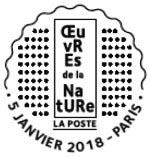 Oblitération 1er jour à Paris au carré d'Encre le 5 janvier 2018