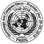 Oblitération 1er jour à Paris au carré d'Encre le 29 mai 2018