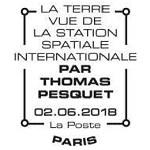 Oblitération 1er jour à Paris au carré d'Encre le 2 juin 2018