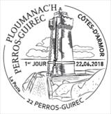Oblitération 1er jour à Paris au carré d'Encre et à Perros-Guirec (Côtes-d'Armor) le 22 juin 2018