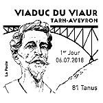 Oblitération 1er jour à Paris au carré d'Encre et place du Ségala, 81190 Tanus le 6 et 7 juillet 2018
