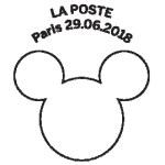 Oblitération 1er jour à Paris au carré d'Encre le 29 juin 2018