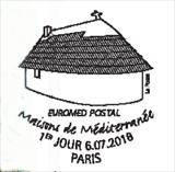 Oblitération 1er jour à Paris au carré d'Encre le 6 et 7 juillet 2018
