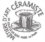Oblitération 1er jour à Paris au carré d'Encreet à Sèvres (92) Cité de la céramique, le 15 septembre 2018