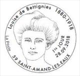 Oblitération 1er jour à Paris au carré d'Encreet à Saint-Amand-les-Eaux (59) Jardin de l'Abbaye, salle Jean Ferrat, le 28 et 29 septembre 2018