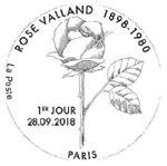 Oblitération 1er jour à Paris au carré d'Encre et à Saint Etienne-de-Saint-Geoirs (38590) en Mairie, le 28 et 29 septembre 2018