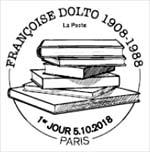 Oblitération 1er jour à Paris au carré d'Encre et à Bour-la-Reine Médiathèque François Villon (92), le 5 et 6 octobre 2018