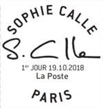 Oblitération 1er jour à Paris au carré d'Encre le 19 et 20 octobre 2018