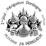 Oblitération 1er jour à Paris au carré d'Encre et à Périgueux au salon «TIMBRES PASSION-PÉRIGUEUX 2018» Salle de la Filature du 26 au 28 octobre 2018