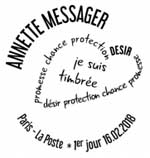 Oblitération 1er jour à Paris au carré d'Encre le 16 et 17 février 2018