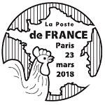 Oblitération 1er jour à Paris au carré d'Encre le 23 et 24 mars 2018