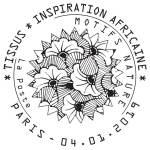 Oblitération 1er jour à Paris au carré d'Encre et à Mulhouse, Musée de l'impression sur étoffe le 4 et 5 janvier 2019