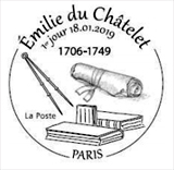Oblitération 1er jour à Paris au carré d'Encre et à Lunéville (54) Maison du Tourisme du Pays Lunévillois le 18 et 19 janvier 2019