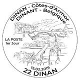 Oblitération 1er jour à Paris au carré d'Encre et à Dinan (22) Salle Robert Schumann le 15 et 16 février 2019