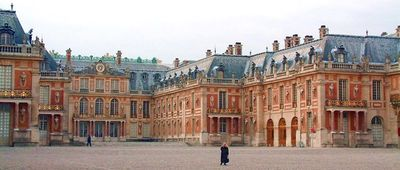 Cours d'honneur du chateau de Versailles