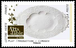 Les Arts de la table en France, Plat, production : Limoges