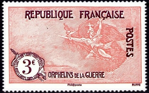 La Marseillaise à Paris  (reproduction des timbres de 1917-18)