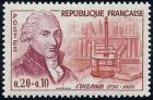 timbre N° 1297, Coulomb (1736-1806) Physicien électricien