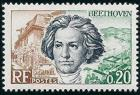 timbre N° 1382, Ludwig van Beethoven, musicien allemand (1770-1827)