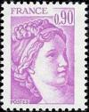 timbre N° 2120, Sabine 0 F 90 lilas-rose