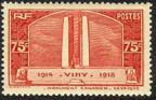 timbre N° 316, Vimy Monument canadien