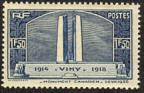 timbre N° 317, Vimy Monument canadien