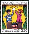 timbre N° 2506, La communication vue par Fred