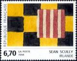 timbre N° 2858, Oeuvre originale de Sean Scully (Irlande)