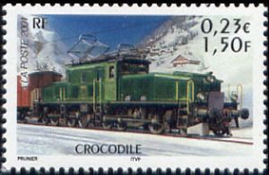 Les légendes du rail : locomotive Crocodile