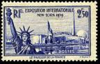 timbre N° 458, Exposition internationale de New York