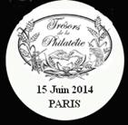 Oblitération 1er jour au salon «Planète Timbres Paris 2014», le 15 juin 2014