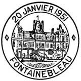 Oblitération 1er jour à Fontainebleau le 20 janvier 1951
