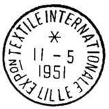 Oblitération 1er jour à Lille le 9 avril 1951