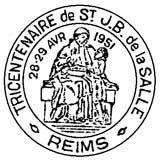 Oblitération 1er jour à Reims le 28 avril 1951