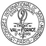 Oblitération 1er jour au Val-de-Grâce le 17 juin 1951
