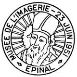 Oblitération 1er jour à Epinal le 23 juin 1951