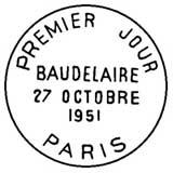 Oblitération 1er jour à Paris le 27 octobre 1951