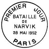 Oblitération 1er jour à Paris le 28 mai 1952