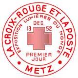 Oblitération 1er jour à Metz le 13 décembre 1952