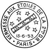 Oblitération 1er jour à Paris le 13 juin 1953