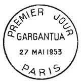 Oblitération 1er jour à Paris le 27 mai 1953