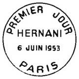 Oblitération 1er jour à Paris le 6 juin 1953